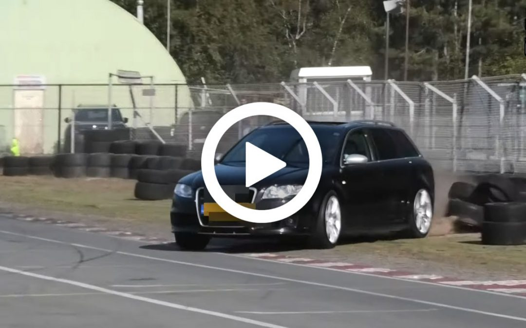 Video – Audi RS4 maakt kennis met bandenstapel – Autoblog.nl