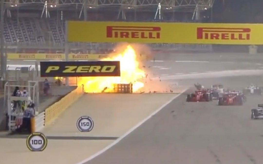 Video: Crash Romain Grosjean GP Bahrein – Autoblog.nl