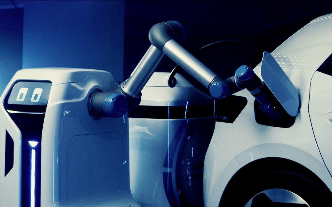 Volkswagen laat laadpaalrobot zien die auto's kan opladen – Autoblog.nl