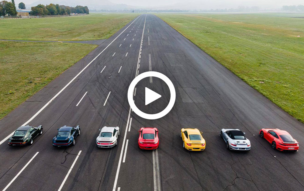 Video – Dragrace met alle generaties 911 Turbo – Autoblog.nl