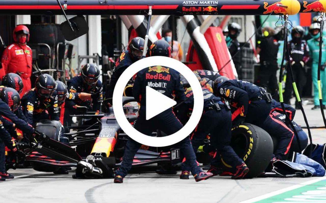Video: Checo maakt eerste meters in Red Bull-auto – Autoblog.nl