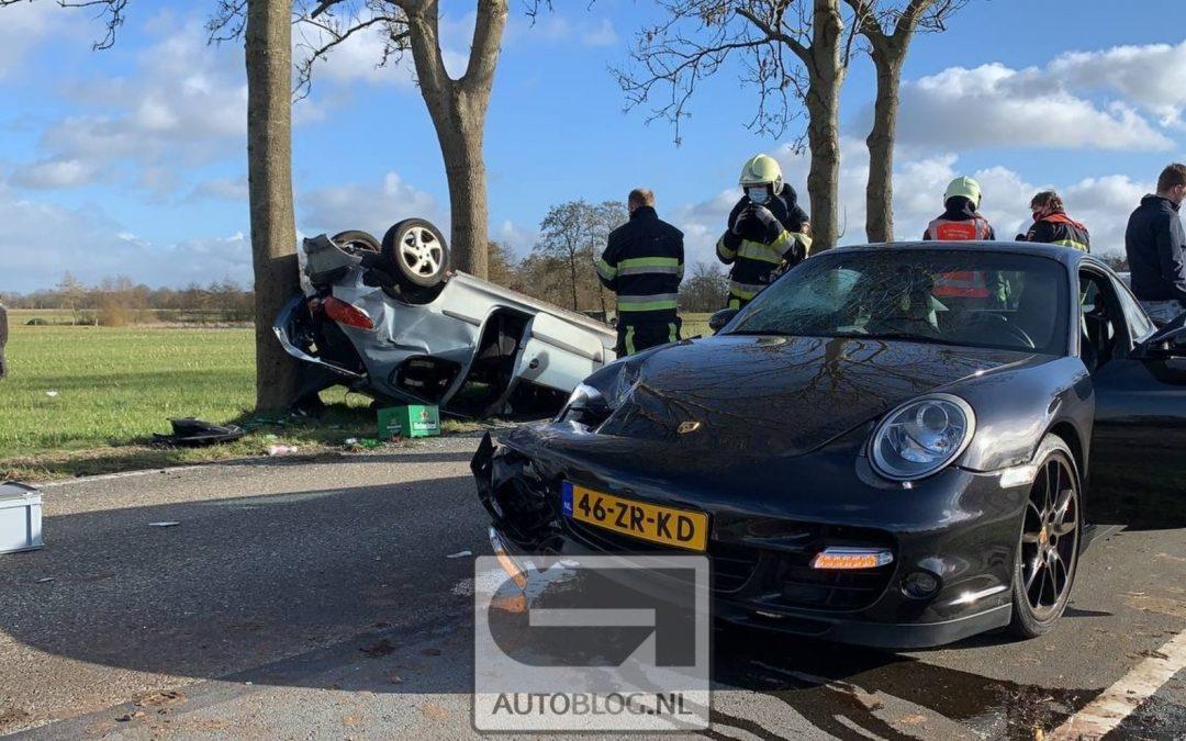 Porsche 911 Turbo kust Peugeot 206 in Friesland/Groningen – Autoblog.nl