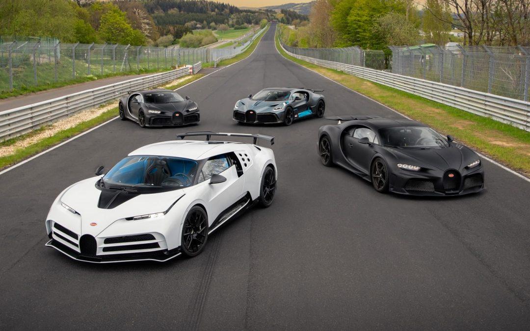 Bugatti bezoekt Nürburgring met €20 miljoen aan auto's – Autoblog.nl