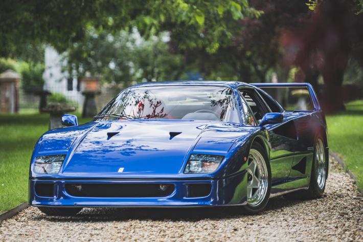 Zo veel geld is een blauwe Ferrari F40 waard