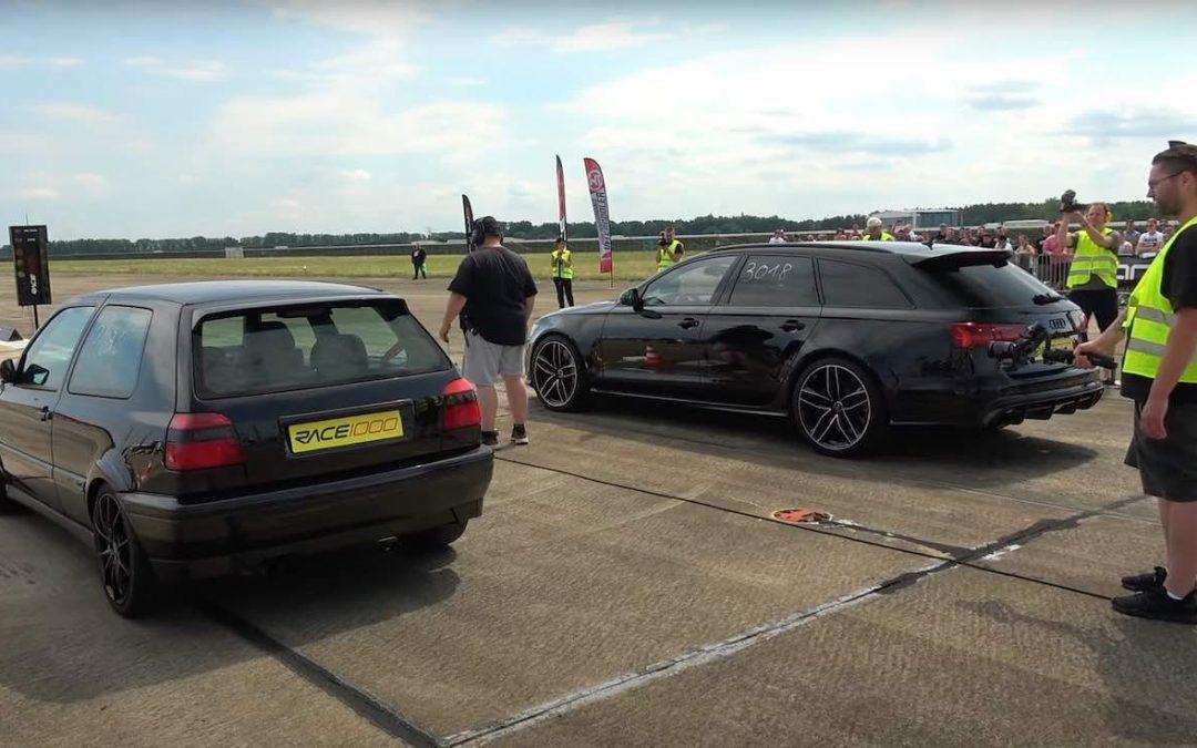 Video: Golf 3 vs Audi RS6
